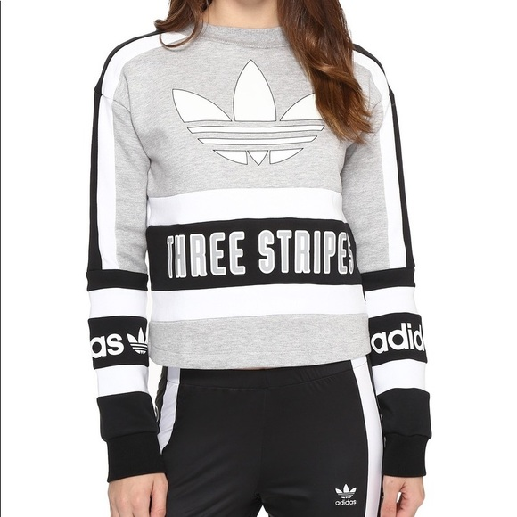 adidas Originals 80s Moto Cropped Sweatshirt